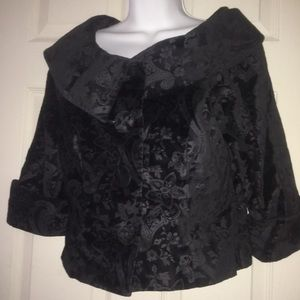 Kenar Velvet Brocade Crop Jacket Sz Small